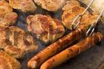 Thumbnail grilled steaks and sausages