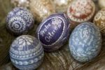 Thumbnail Traditional Silesian Easter eggs decorated through scraping and shaving