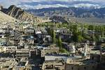 Thumbnail view over the historic center of Leh, Indus valley, Ladakh, Jammu and Kashmir, India