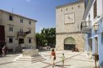 Thumbnail Main square in the historic centre of Krk, Krk Island, Istria, Croatia, Europe