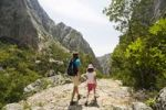 Thumbnail Hikers, Velika Paklenica, Paklenica National Park, Dalmatia, Croatia, Europe