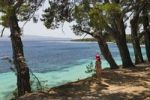 Thumbnail Girl looking at the sea, Bol, Brac Island, Dalmatia, Croatia, Adriatic Sea, Mediterranean, Europe