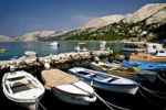 Thumbnail Fishing boats in Stara Baska harbour at the isle of Krk in Croatia