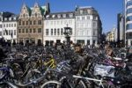 Thumbnail Street scene with bicycles in Copenhagen, Denmark
