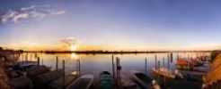 Thumbnail Sunset in Cavallino Harbour, fishing boats, view of lagoon, Venice, Italy