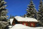 Thumbnail Snow-block house near the forest, Jura, Switzerland