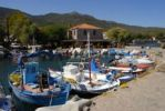 Thumbnail Small fishing boats in the small port of Skala Sikaminia, Lesbos Island, Aegean Sea, Greece, Europe