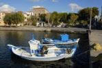 Thumbnail Small fishing boats in the harbour, Sigri, Lesbos, Aegean Sea, Greece, Europe