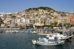 Thumbnail City on the harbour with fishing boats, Plomari, Lesbos island, Aegean Sea, Greece, Europe