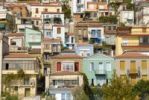 Thumbnail Town built on a hill, many-coloured houses, Plomari, Lesbos island, Aegean Sea, Greece, Europe