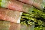 Thumbnail Green asparagus (Asparagus) wrapped with Parma ham