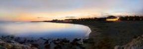 Thumbnail Panorama at sunset at the beach of Cavallino, Venice, Italy, Europe