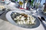 Thumbnail Restaurant in the TV tower in Bratislava, traditional Slovak meal, Brimsen gnocci with Liptov cheese, Slovakia, Eastern Europe