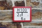 Thumbnail Hydrant sign on a rustic house wall, building bricks