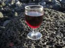 Thumbnail Glass of red wine on lava rock, La Palma, Canary Islands, Spain