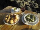 Thumbnail Tapas with red wine, Papas arugadas and Boquerones, La Palma, Canary Islands, Spain