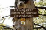 Thumbnail Sign on a path at Mt Feldberg in the Black Forest, Germany, Europe