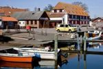 Thumbnail The idyllic harbour in the small village Lundeborg, Funen, Denmark, Europe