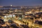 Thumbnail Lisbon, city view at night, Portugal, Europe