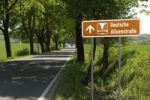 Thumbnail Sign 'Deutsche Alleenstrasse', Rheinisch Bergischer Kreis district, North Rhine-Westphalia, Germany, Europe