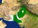 Thumbnail Satellite image of Pakistan with the country's flag covering it