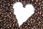 Thumbnail Coffee beans forming a heart shape