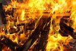 Thumbnail Fire burning wood