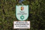 """Thumbnail Sign """"Naturschutzgebiet"""", """"Nature Reserve"""", European Reserve Unterer Inn at Reichersberg, Upper Austria, Austria, Europe"""