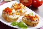 Thumbnail Bruschetta with tomatoes, mozzarella and basil
