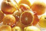 Thumbnail Citrus fruit under water jet, oranges, lemons, grapefruits