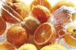 Thumbnail Citrus fruit under water jet, oranges, lemons, grapefruits