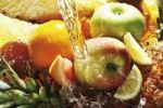 Thumbnail Fruits under water jet, oranges, lemons, grapefruit, apple, pineapple
