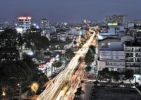 Thumbnail Busy road, arterial road at night, Ho Chi Minh City, Saigon, Vietnam, Asia