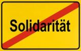 Thumbnail Sign city limits, symbolic image for the end of solidarity