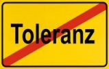 Thumbnail Sign city limits, symbolic image for the end of tolerance