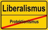 Thumbnail German sign city limits, symbolic image for the development from protectionism to liberalism