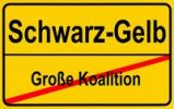 Thumbnail Sign city limits, symbolic image for the replacement of the grand coalition with a CDU / CSU-FDP government