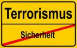 Thumbnail Sign city limits, symbolic image for turning from security to terrorism