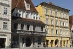 Thumbnail Town square with Bummerlhaus house, left, Steyr, Upper Austria, Austria, Europe