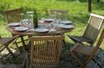 Thumbnail Garden furniture and laid table
