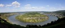 Thumbnail Meander or bend of the Rhine River at Boppard, left, Boppard, Rhein-Hunsrueck-Kreis district, Rhineland-Palatinate, Germany, Europe