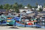 Thumbnail Fishing boats in the harbor of the fishing village of Phu Quoc, Vietnam, Asia