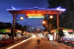Thumbnail Street entrance to the night market in Phu Quoc, Vietnam, Asia