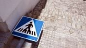 Thumbnail Traffic sign lying on the ground, Andalusia, Spain, Europe