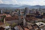 Thumbnail Villa, view from the steeple of St. Egyd, Klagenfurt, Carinthia, Austria, Europe