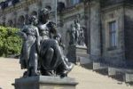 Thumbnail Steps with figures, daytimes, Bruehlsche Terrasse, Dresden, Saxony, Germany, Europe