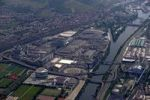 Thumbnail Aerial picture, Daimler Benz business premises in Stuttgart-Untertuerkheim, Baden-Wuerttemberg, Germany, Europe