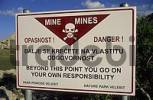 Thumbnail warning sign for mines at Mali Alan Pass in the Velebit Mountains