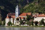Thumbnail Duernstein, view from Rossatz over the Danube river, Wachau, Lower Austria, Austria, Europe