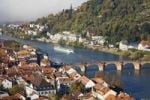 Thumbnail Historic centre of Heidelberg with Old Bridge and Neckar River, view from the Heidelberg Castle, Baden-Wuerttemberg, Germany, Europe